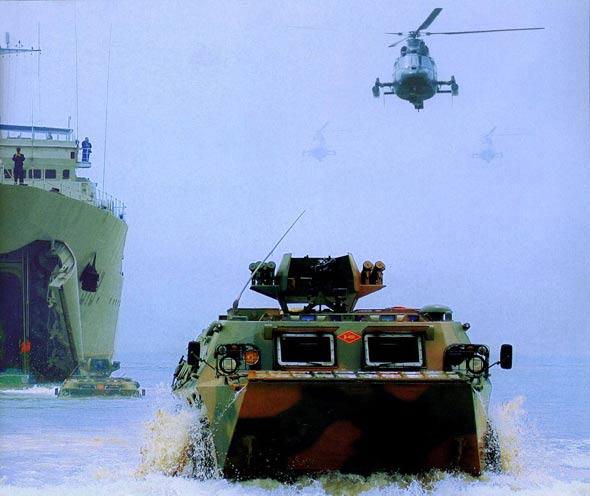 图文:陆航直升机在中俄军演中参加两栖登陆作战