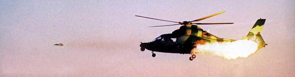 图文:我直9武装直升机发射空地导弹