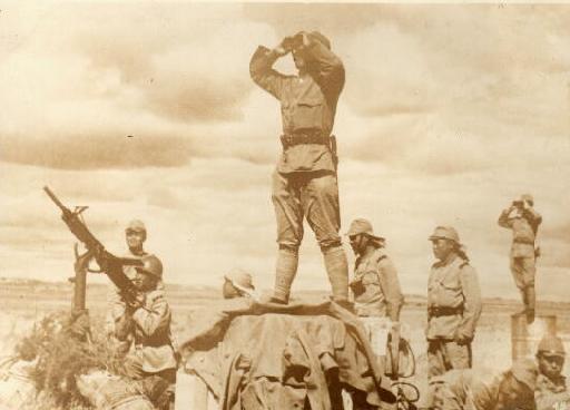 图文:诺门罕战役中日军对空警戒