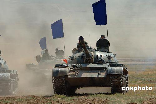 图文:蓝军坦克分队