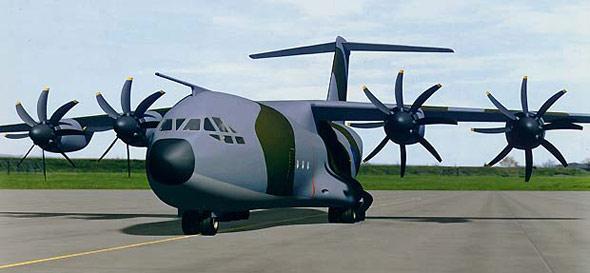 图文:A400M军用运输机地面停放效果图