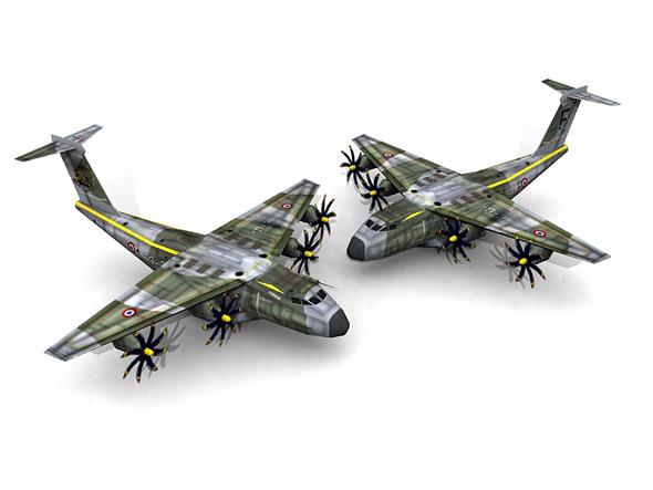 图文:A400M军用运输机3D模型图