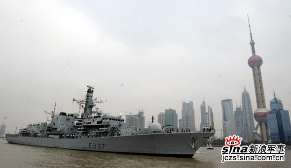 英国军舰访问上海中英将举行联合军演(组图)