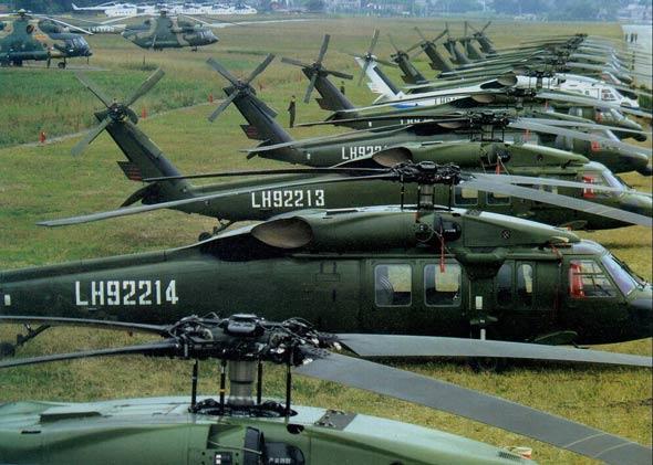 中国陆航主战装备之美制S-70C黑鹰直升机(图)
