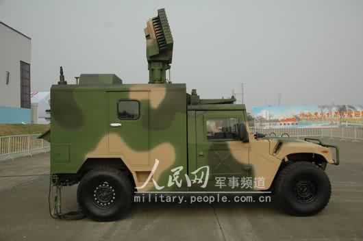 图文:FB-6A自行防空系统雷达指挥车侧面