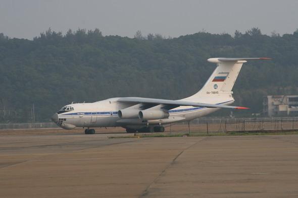 图文:俄罗斯伊尔-76参加珠海航展