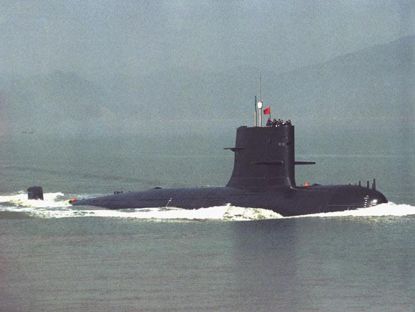 图文:中国海军039宋级改型潜艇海上演练