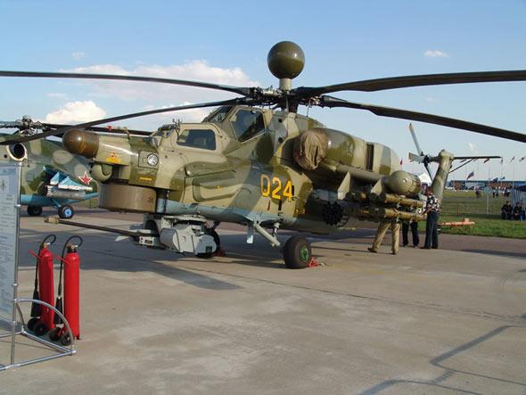 俄罗斯将向全球推销米-28NE攻击直升机(组图)