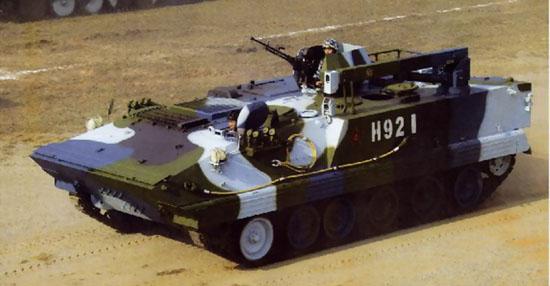 图文:中国海军陆战队93式两栖装甲抢修车