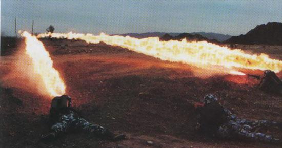 图文:中国海军陆战队喷火兵分队