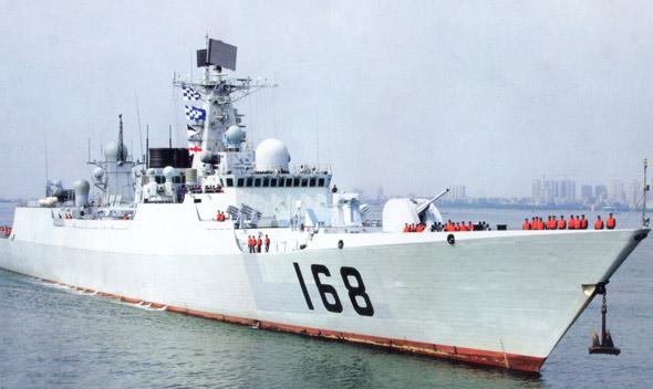 图文:海军新型通用驱逐舰168广州号