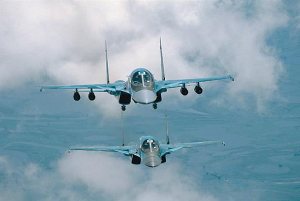 俄军计划装备不少于200架苏-34前线轰炸机(图)