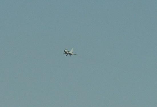 图文:国产歼-10战机双座型飞行