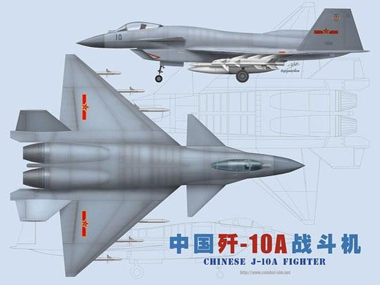 图文:歼10战机双发大改两视图