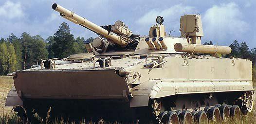图文:沙漠涂装的俄制BMP-3型步兵战车