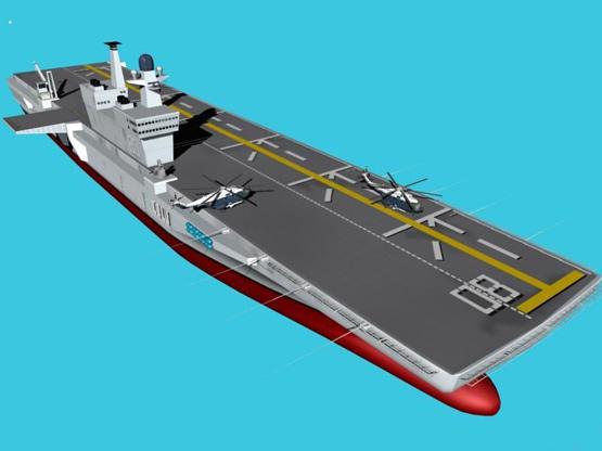 图文:中国海军未来航母上视想像图
