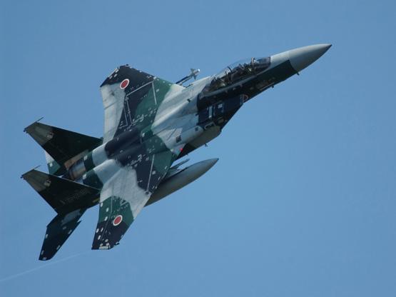 图文:日本航空自卫队F-15DJ双座战机升空