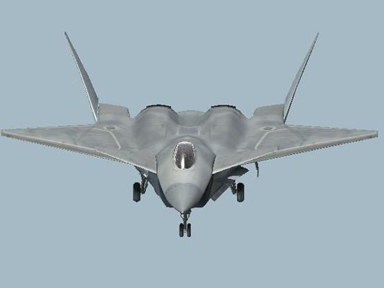图文:中国四代战机正视特写设想图