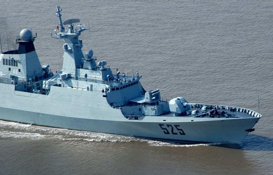 图文:解放军海军最新入役的054级隐身护卫舰