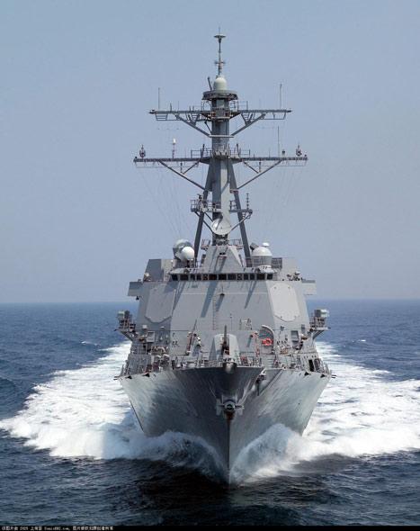 图文:加装宙斯盾系统的阿利-伯克级战舰