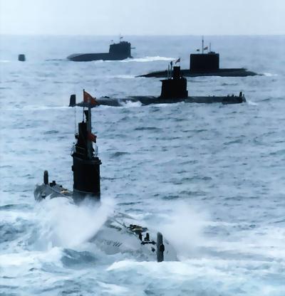 图文:中国海上潜艇编队