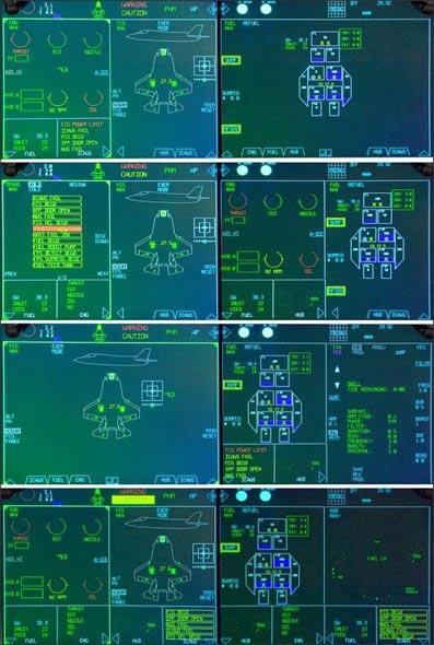 图文:F-35战机座舱整体显示系统