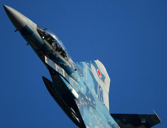 图文:日本航空自卫队列装的F-15DJ战机