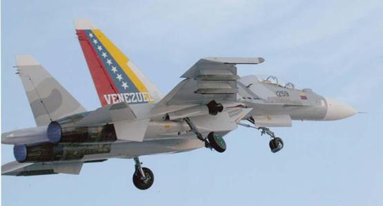 图文:委内瑞拉空军苏30MK2战机