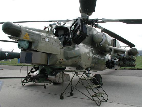 图文:俄装大量列装米28N攻击直升机