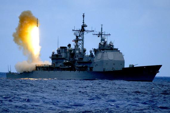 图文:美国海军战舰发射导弹