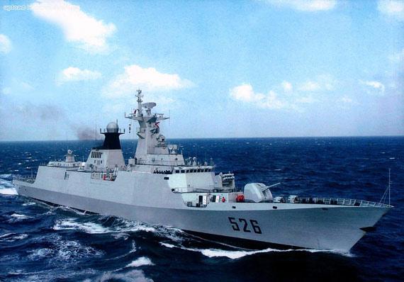 图文:江凯级导弹护卫舰具有良好的隐身性能