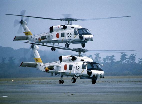 图文:三菱重工授权生产的SH-60J舰载直升机