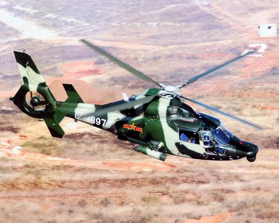 图文:陆航部队最新夜战攻击型武直九直升机