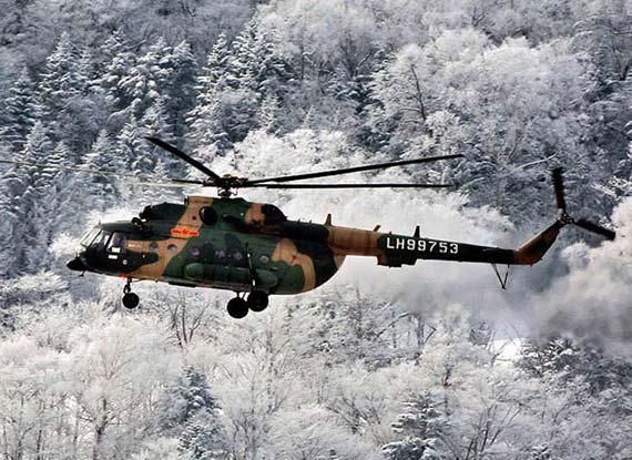 图文:从俄罗斯引进的改进型米171运输直升机