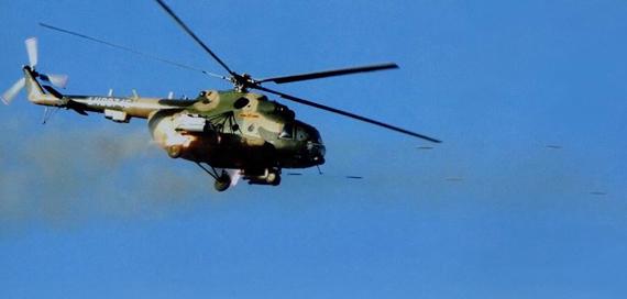 图文:解放军陆航部队武装型米171对地攻击