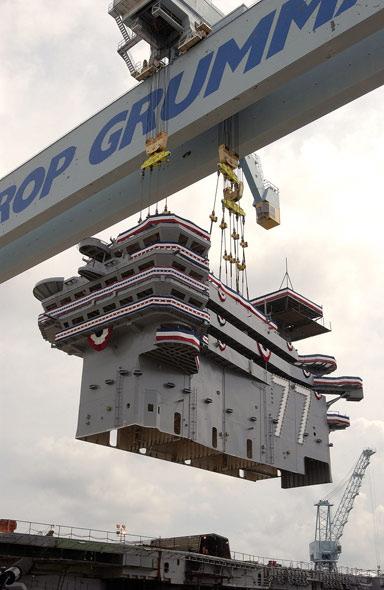 图文:几十年来航母研制建造费用已成倍增长