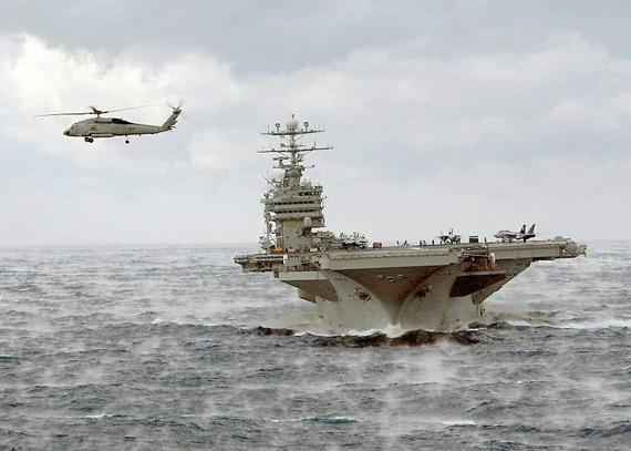 美国海军维修华盛顿号航母08年将部署日本(图)