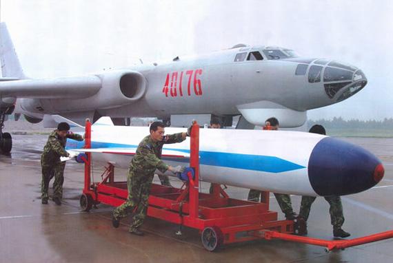 图文:中国轰六挂载新型鹰击巡航导弹