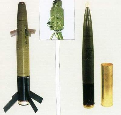 图文:中国新型末制导炮弹及激光制导装置