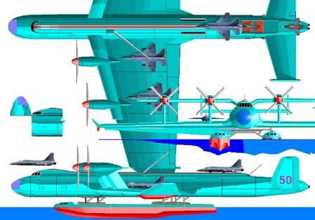 图文:中国地效飞行航母概念图