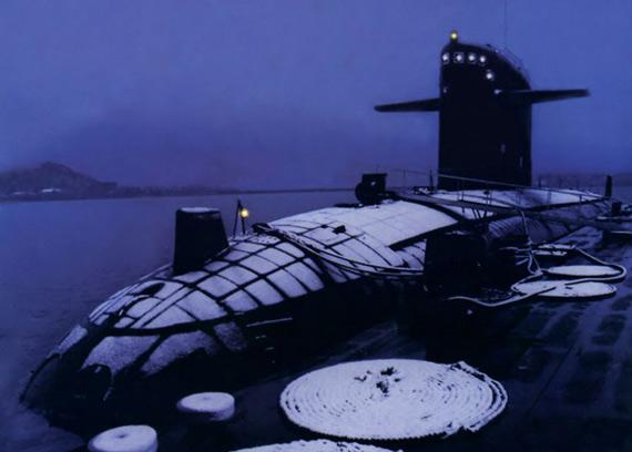 图文:中国海军汉级改进型核潜艇安装消声瓦