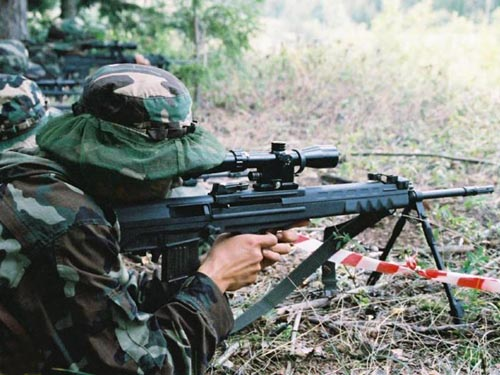 图文:解放军侦察兵狙击手