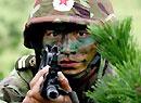 参加两栖登陆作战实兵演练的中国特战队员