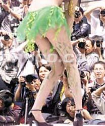 欧美小姐人体艺术照_艺术与人体在广州交融(多图)