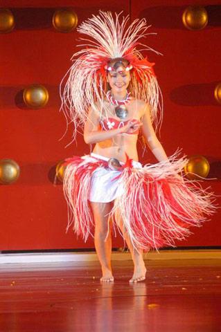 组图:第53届世姐才艺大比拼--马来西亚表演草裙舞