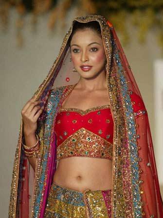 风情 印度新娘装图片