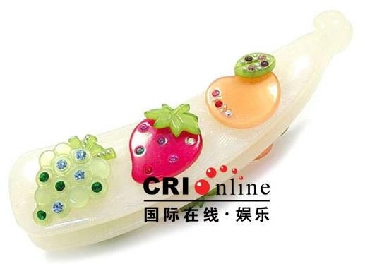 组图:风靡韩国 可爱美眉必备10款糖果香蕉夹(5)