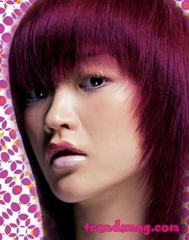 亚洲人染发最宜红色系