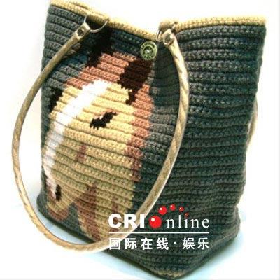 钩针编织动物儿童包包