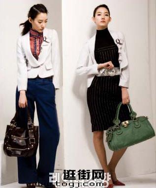 搭配条纹衬衫和阔腿裤,时尚干练,暗纹长裙则更显精明气质-1款小夹